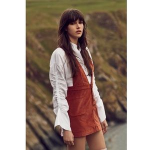 Free People Rust Old School Love Overall Dress